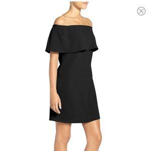 NWT Charles Henry Black Off the Shoulder Dress